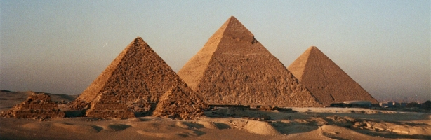 The Great Pyramids of Egypt (Giza), perhaps the most spellbinding and talked about of all the pyramids