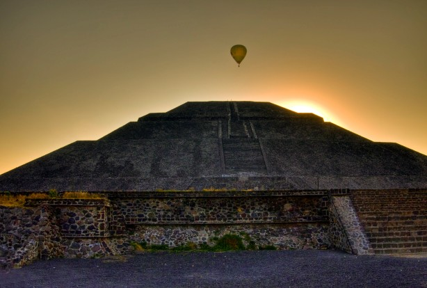 The pyramid of the sun - at Teotihuacan, Mexico.